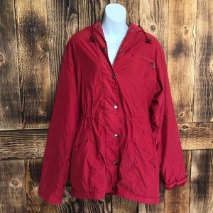Nordstrom - Red Anorak Hooded Utility Coat - M